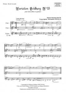 Variation Goldberg n°18 (guitare et deux flûtes)