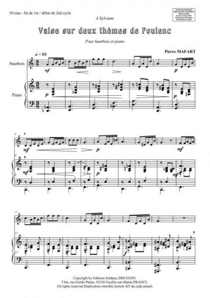 Valse sur 2 thèmes de Poulenc (hautbois et piano)