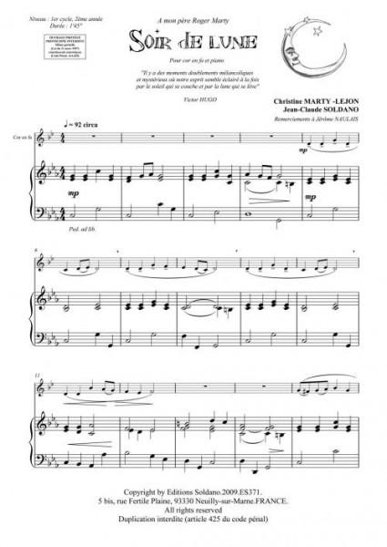 Soir de lune (cor/piano)