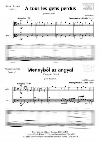 4 duos de Noël (duo alti)
