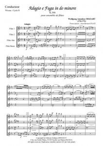 Adagio e fuga in do minore (ensemble de flûtes)
