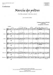 Marche des prêtres (ensemble de flûtes)