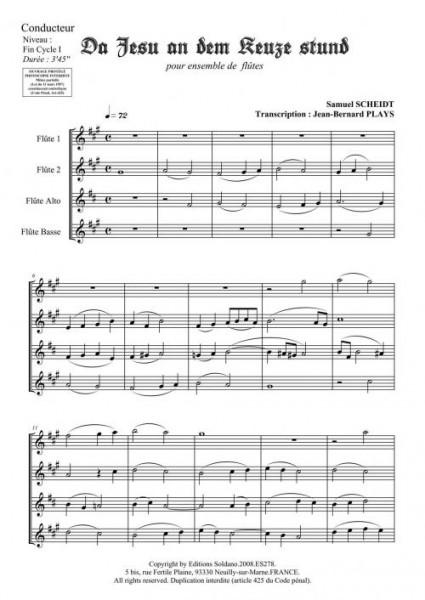 Da Jesu an dem keuze stund (quatuor de flûtes)