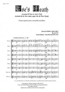 """La mort d'Ase (extrait """"Peer Gynt"""" pour ensemble de flûtes)"""