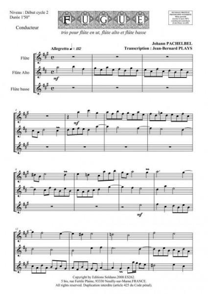 Fugue (trio de flûtes)