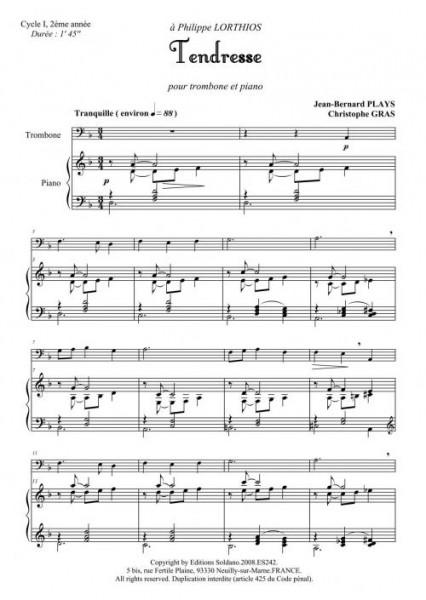 Tendresse (trombone et piano)