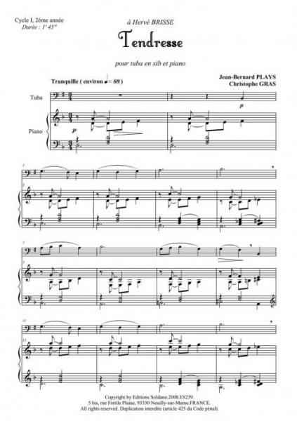 Tendresse (tuba et piano)