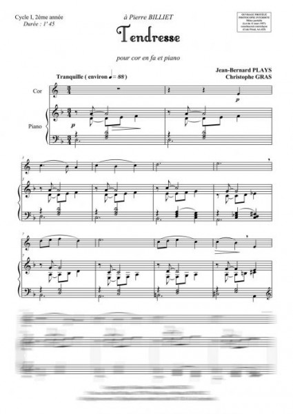 Tendresse (cor en fa et piano)