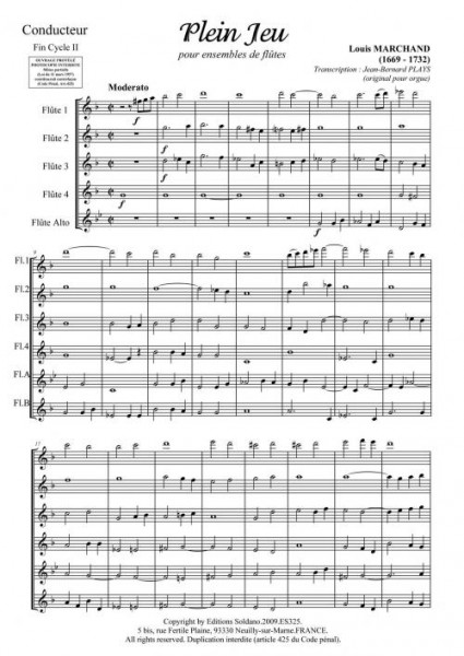 Plein jeu, fugue et quatuor (ensemble de flûtes)