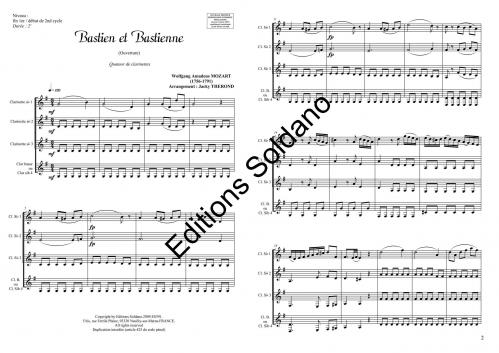 Bastien et Bastienne (quatuor de clarinettes)