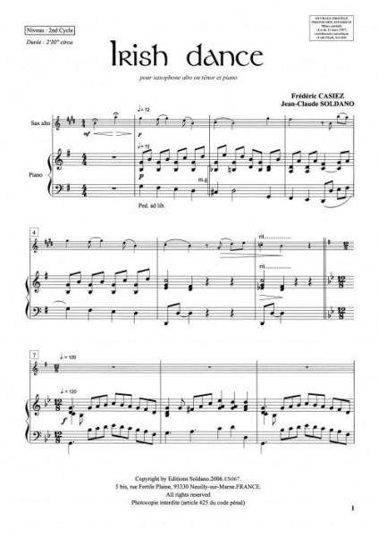 Irish dance (sax ténor/piano)
