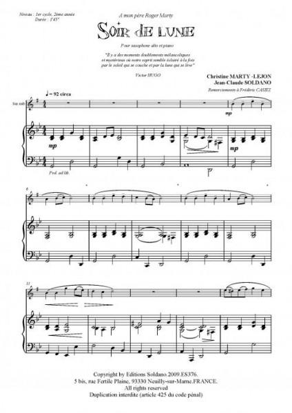 Soir de lune (sax alto/piano)