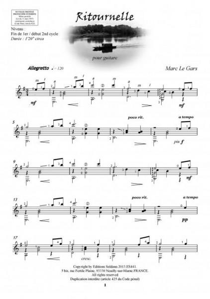 Valses sur Loire (guitare, volume 1)