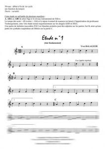 3 études méthodiques (xylophone)