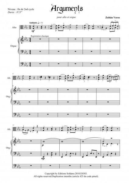 Arguments (alto et orgue)
