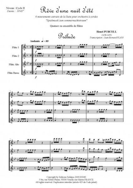 Rêve d'une nuit d'été (quatuor de flûtes)