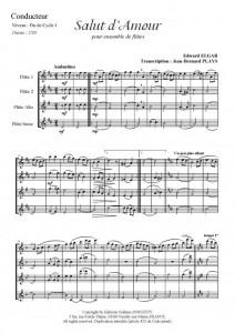 Salut d'Amour (quatuor de flûtes)
