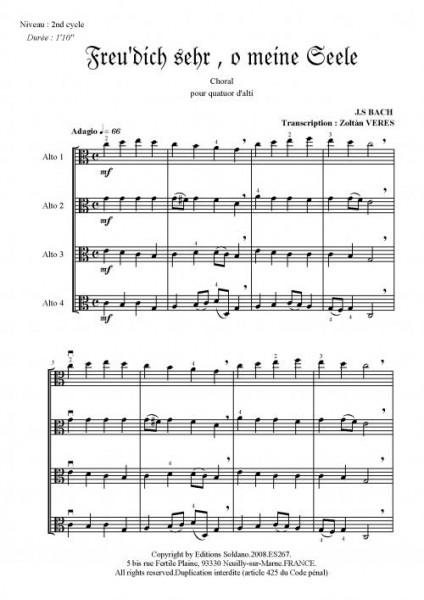 Deux chorals (quatuor d'alti)