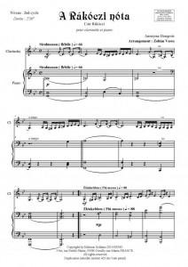 A Rakoczi nota (clarinette et piano)