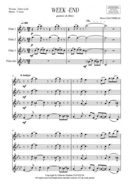 Week-end (quatuor de flûtes)
