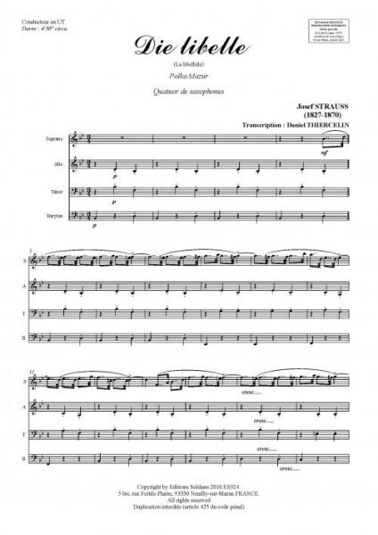 Die libelle (quatuor de saxophones)