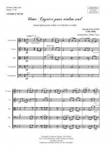 6ème caprice (soliste et orchestre à cordes)