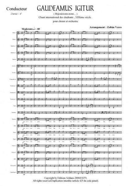 Gaudeamus igitur (Choeur SATB et orchestre)