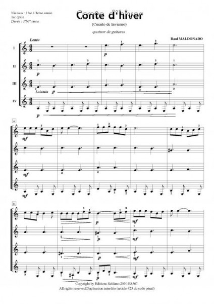 Conte d'hiver (quatuor de guitares)