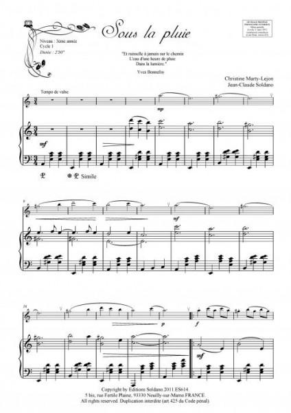 Sous la pluie (flûte et piano)