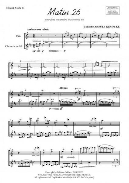 Matin 26 (flûte et clarinette)