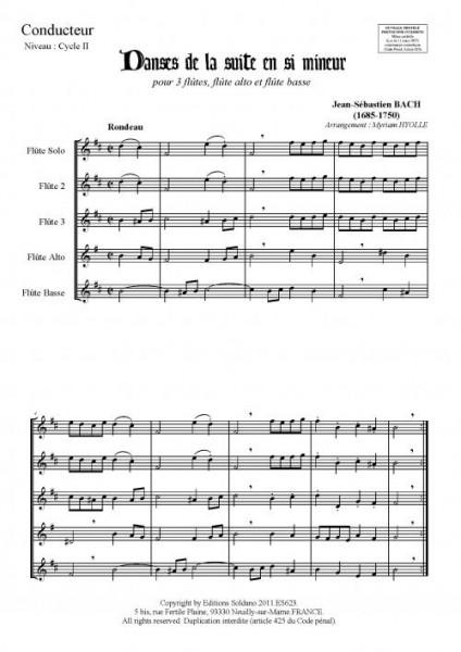 Danses de la suite en si mineur (ensemble de flûtes)
