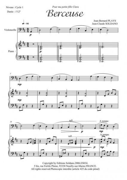 Berceuse (violoncelle/piano)