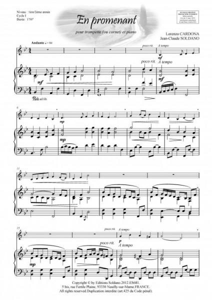 En promenant (trompette -ou cornet- et piano)