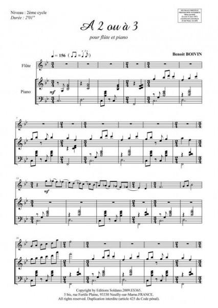 A 2 ou à 3 (flûte et piano)