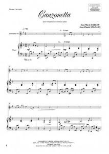 Canzonetta (trompette/piano)