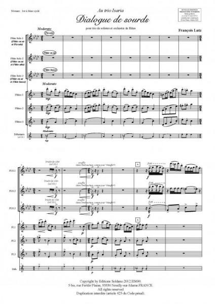 Dialogue de sourds (trio de solistes et orchestre de flûtes)