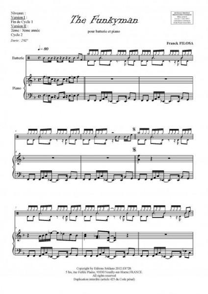 The Funkyman (batterie et piano)