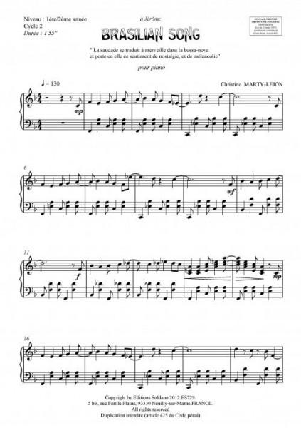 Brasilian song (piano)