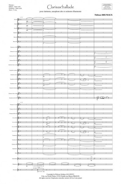 Clarisax'ballade (clarinette, saxophone alto et orchestre d'harmonie)