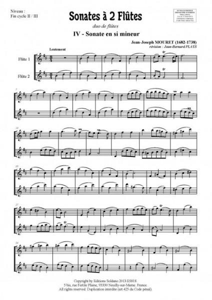 Sonates à 2 flûtes - Volume 2 (duo de flûtes)
