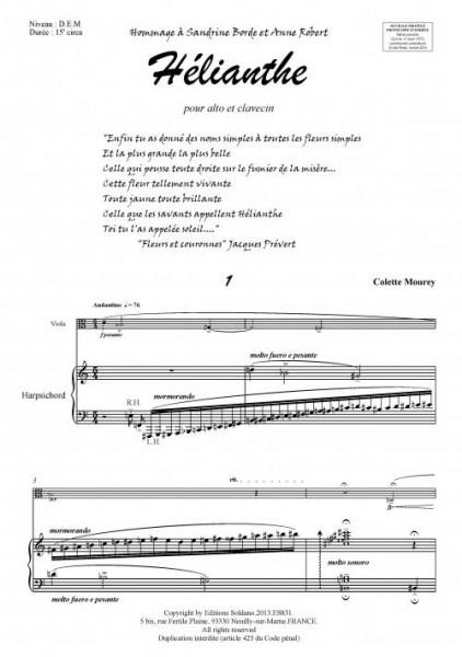Hélianthe (alto et clavecin)