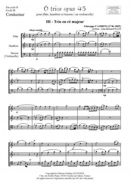 6 trios - VOLUME2 (pour flûte, hautbois et basson ou violoncelle)