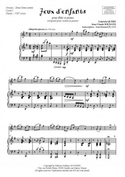 Jeux d'enfants (flûte et piano)