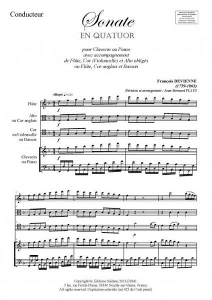 Sonate en quatuor (pour ensemble divers)
