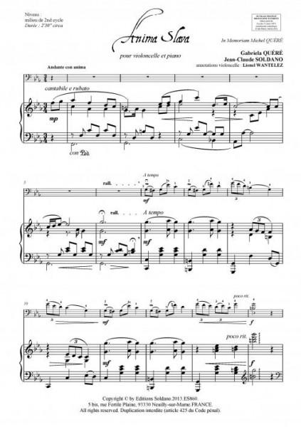 Anima Slava violoncelle et piano)