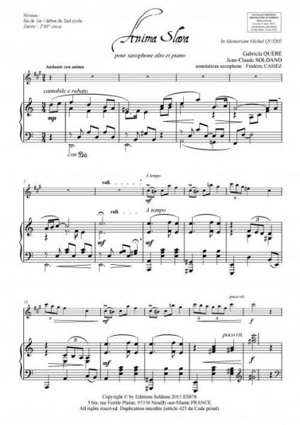 Anima Slava (saxophone alto et piano)
