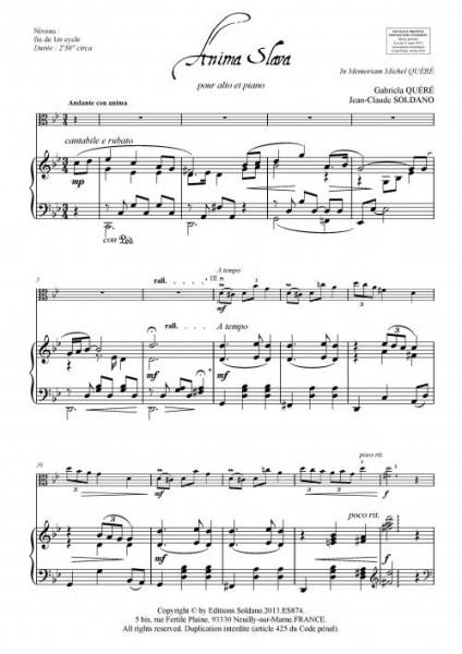 Anima Slava (alto et piano)