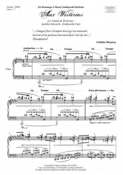 Aux Wisterias (piano)