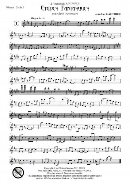 12 études fantasques (flûte traversière)