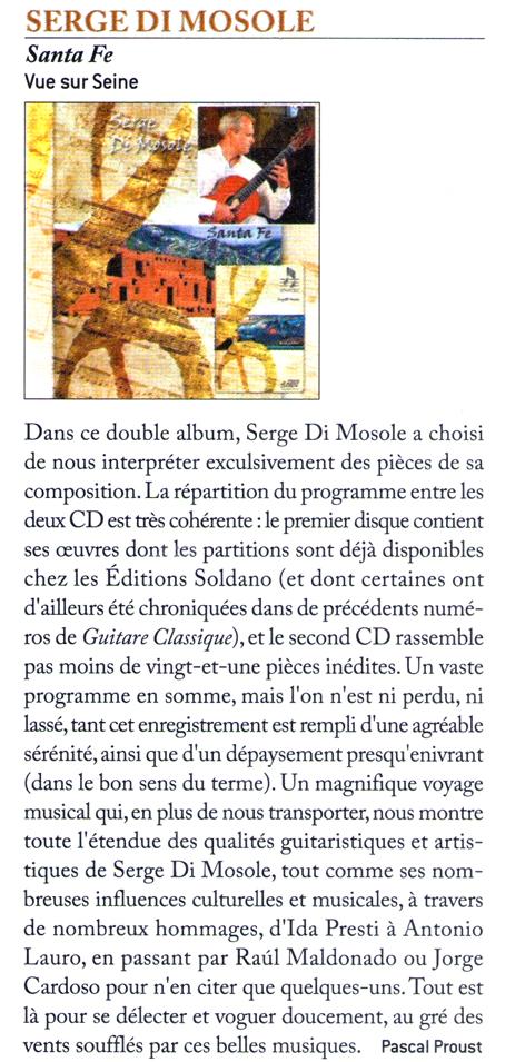 article guitare classique CD Di Mosole